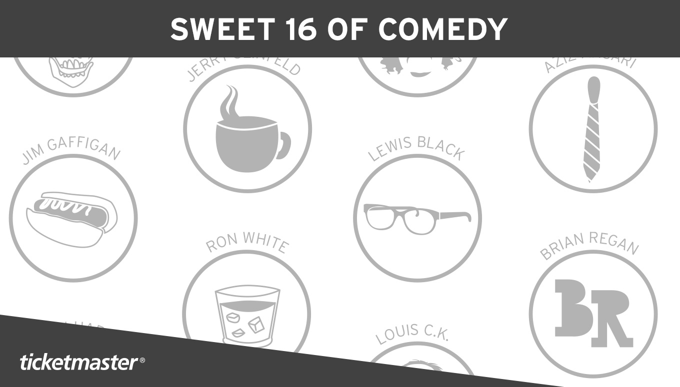 Sweet 16 of Comedy Infographic