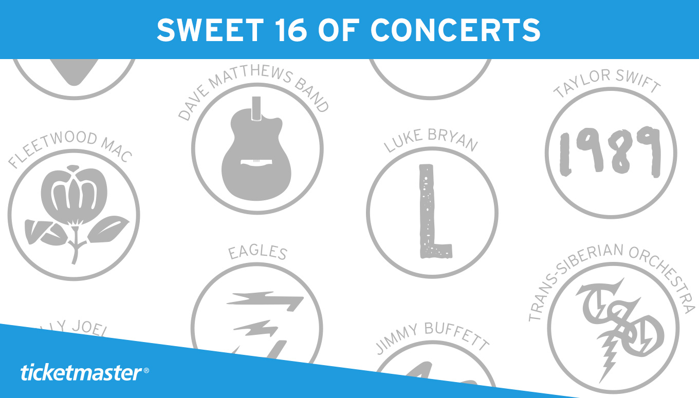 March Madness: Sweet 16 of Concerts [Infographic]