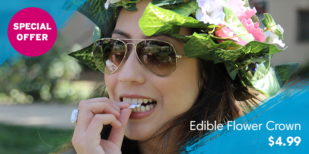 Edible Flower Crown Music Festival Prank Video