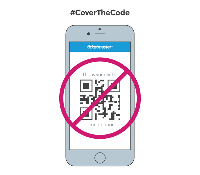 Cover the Code: The Do's & Don'ts of Sharing Ticket Pics Online |  Ticketmaster Blog