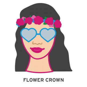flower crown music festival emoji