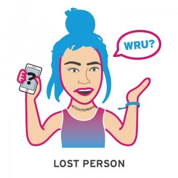 lost person music festival emoji