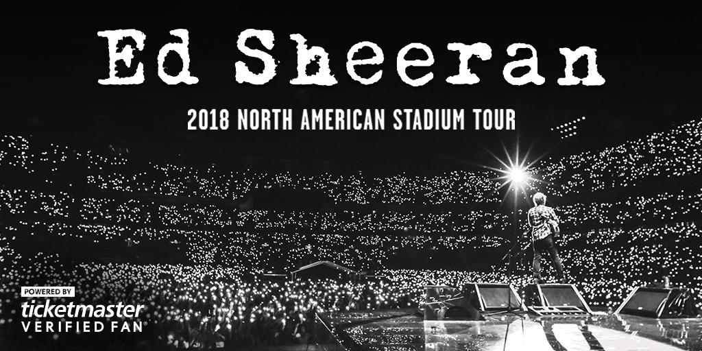 Ed Sheeran Tour 2020.Ed Sheeran 2020 North American Stadium Tour Tour 2020