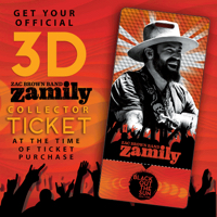 Zac Brown Band Fan Club Zamily Collector Ticket