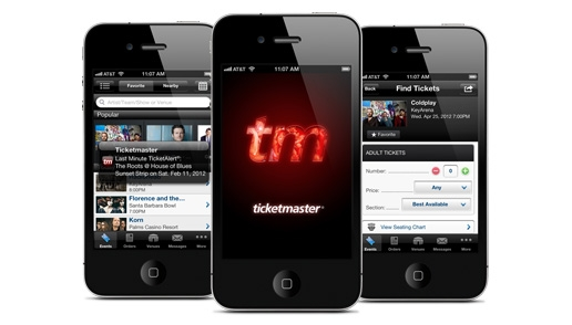 Ticketmaster app for iPhone