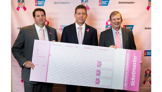Ticketmaster Goes Pink for October's National Breast Cancer Awareness Month