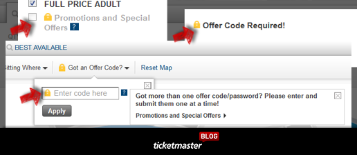 Ticketmaster Resale Codes