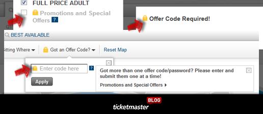Ticketmaster Resale Codes