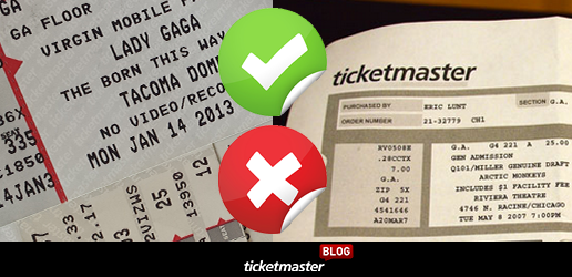 counterfeit ticket guidelines for concerts from ticketmaster