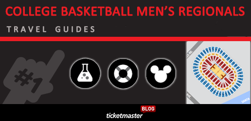 NCAA Sweet Sixteen Travel Guides