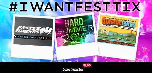 music festival contest #IWANTFESTTIX Ticketmaster