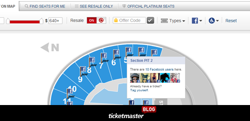 Socialize your next live event with Seat tagging at Ticketmaster