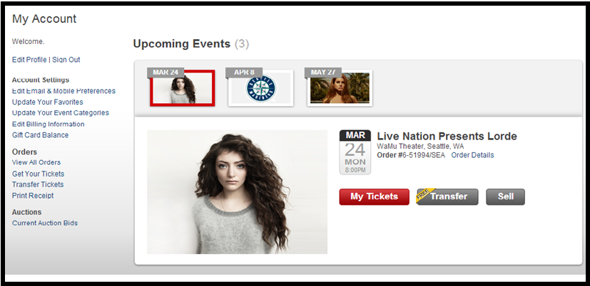 ticketmaster lorde artist favorites