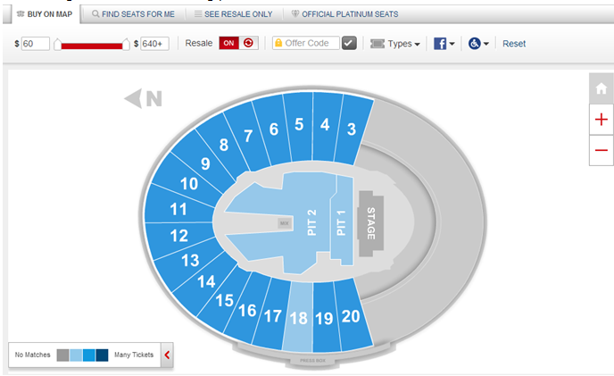 ism interactive seat map ticketmaster