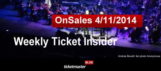 Weekly Ticket Insider, April 11, 2014: Paul McCartney, Justin Timberlake