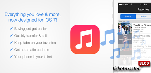 Ticketmaster iOS7 App Release