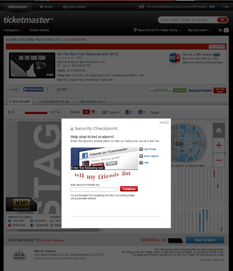 recaptcha ticketmaster tips