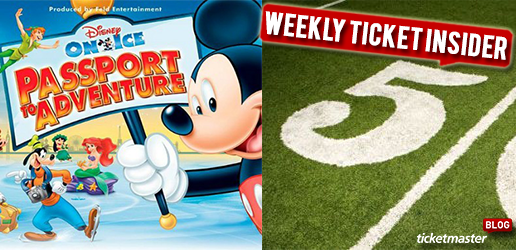 disney on ice: passport to adventure and football tickets