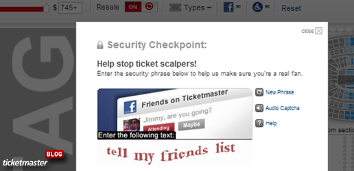 captcha tips from ticketmaster blog