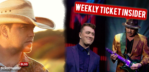 Ticket Insider - Jason Aldean, Sam Smith, & Santana Tickets On Sale