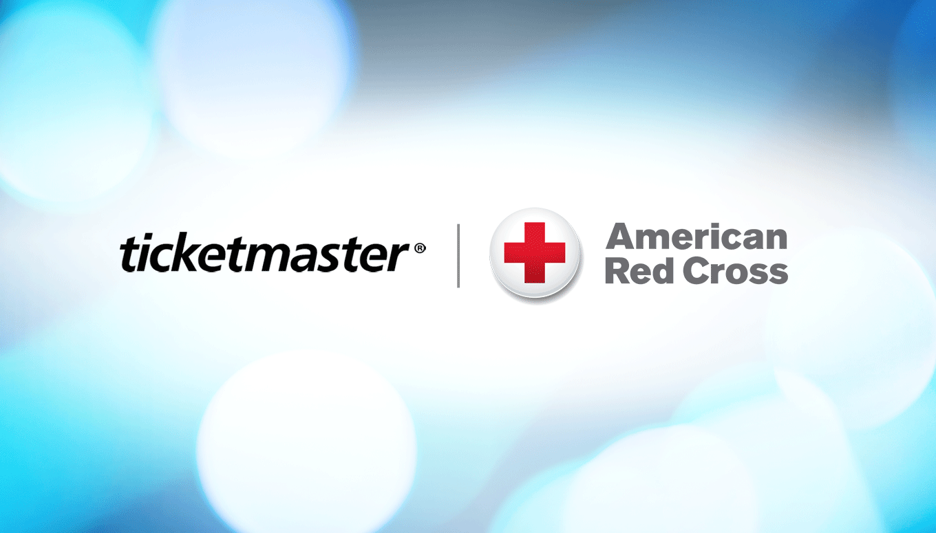 America Red Cross and Ticketmaster