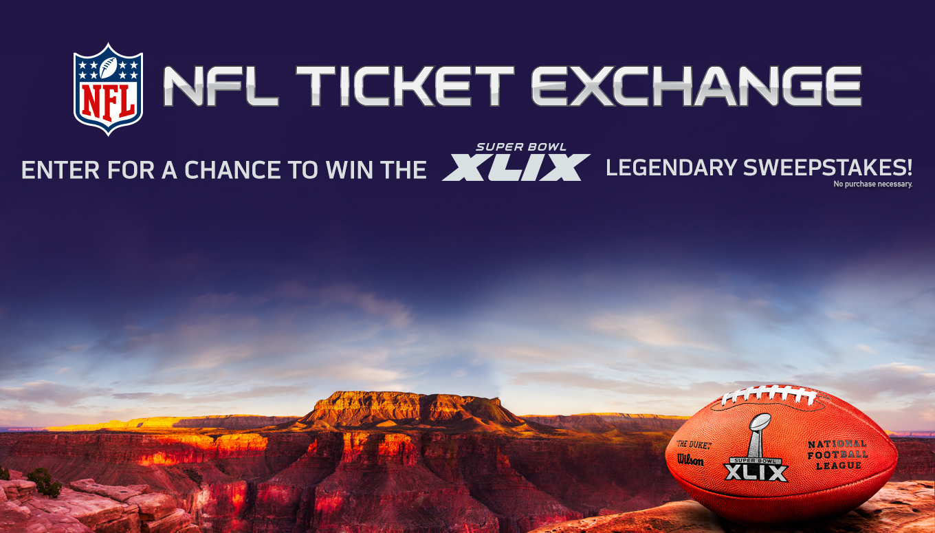 NFL Ticket Exchange Super Bowl XLIX Legendary Sweepstakes First Place Winners