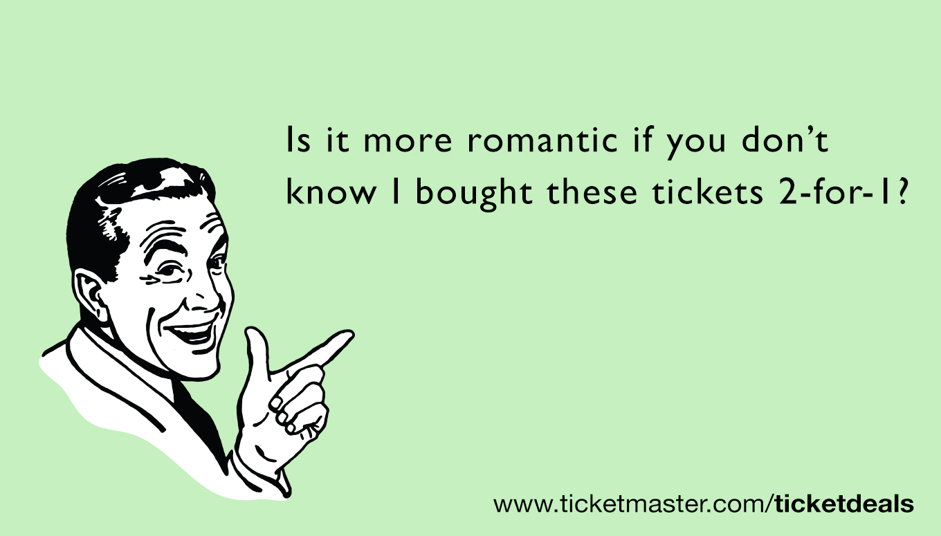 Happy Valentines Day from Ticketmaster Funny Valentines Day e – E Valentines Cards