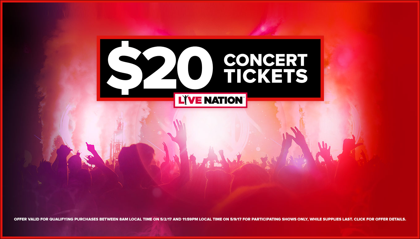 National Concert Day = 1,000,000 Concert Tickets for $20