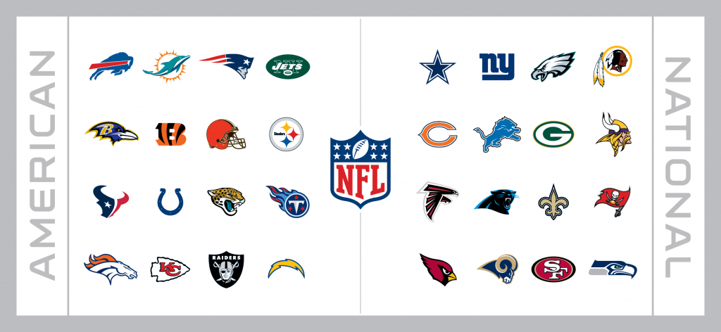 NFL Football Schedule League Team Graphic