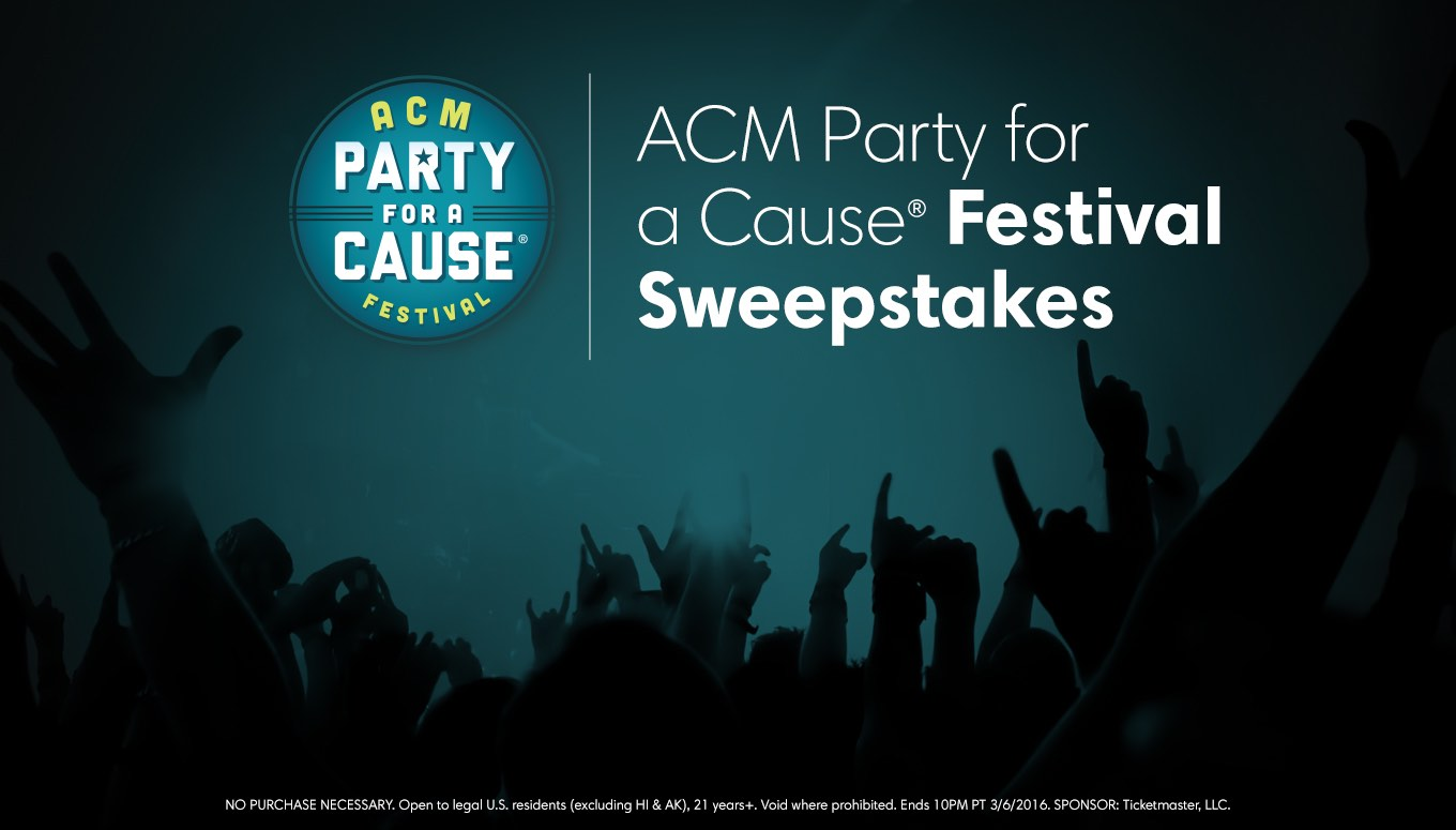 ACM Party for a Cause Festival Sweepstakes – Entry Period Closed