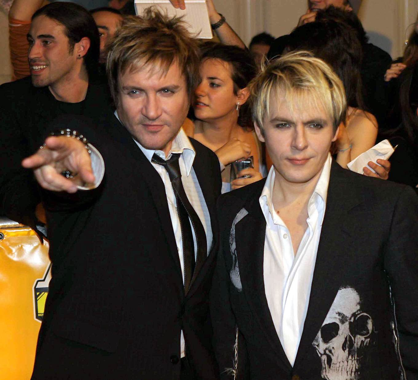 British group Duran Duran arrive to the MTV Europe Music Awards in Rome, Thursday, Nov. 18, 2004. (AP Photo/Alessandra Tarantino)