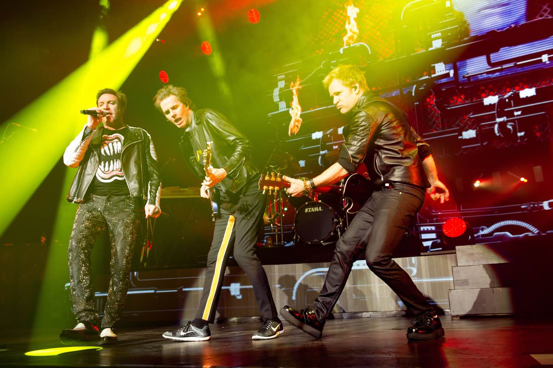 Duran Duran - Nick Rhodes, John Taylor, Roger Taylor, Simon Le Bon Duran Duran in concert at Leeds Arena, Britain - 28 Nov 2015 (Rex Features via AP Images)