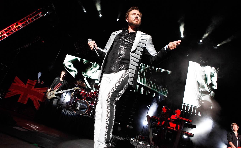Duran Duran - Simon Le Bon Duran Duran in concert at the AVA Amphitheater Tucson, Arizona, America - 12 Aug 2012 (Rex Features via AP Images)