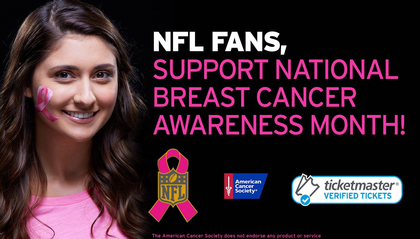 Ticketmaster & the NFL Go Pink