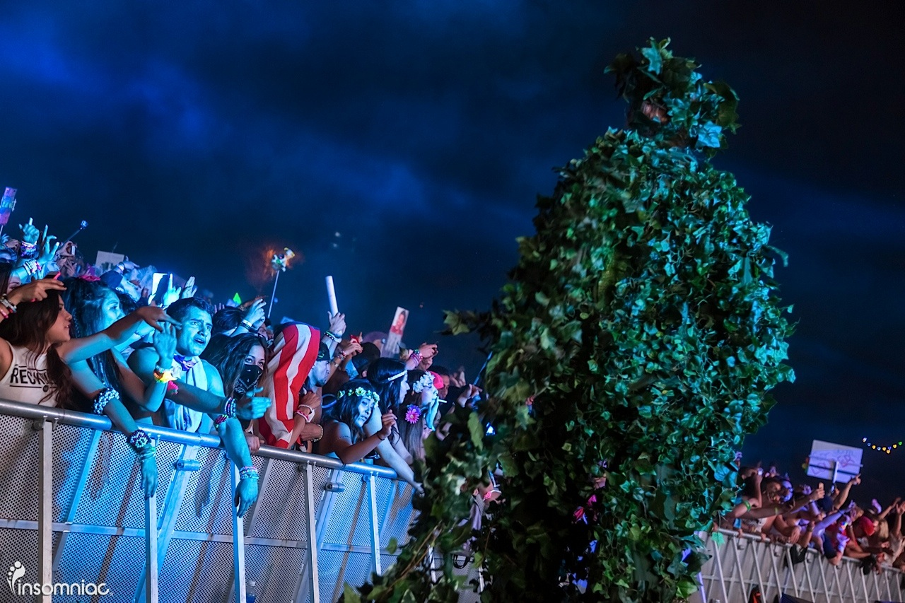 beyond wonderland socal 2015 edm music festival Treeman character