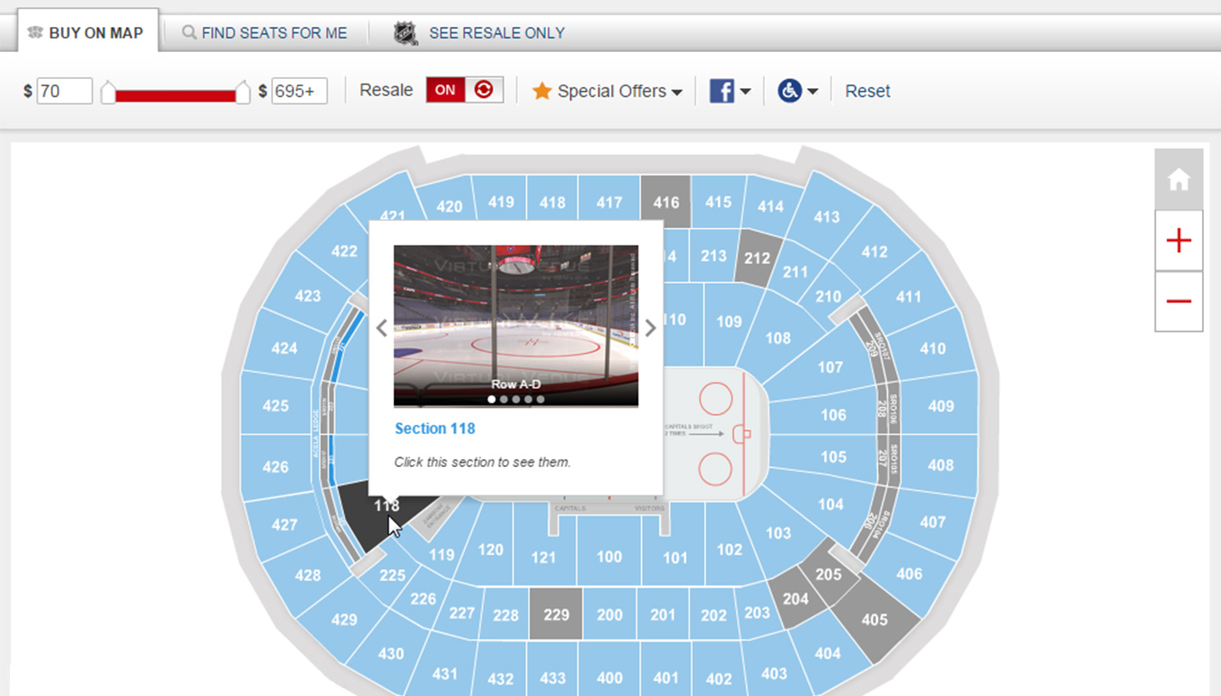 Interactive Seating Chart  Zero In On The Seats You Want With Ticketmaster