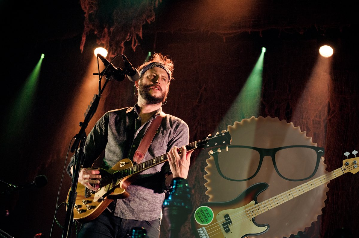 Justin Vernon of the band Bon Iver performs live during a concert at Arena on November 5 2012 in Berlin, Germany. (Photo by Anne-Helene Lebrun / Redferns via Getty Images) (Candy graphic by Ticketmaster)
