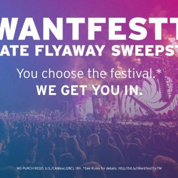 #IWantFestTix Flyaway Sweepstakes