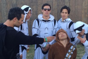Star Wars characters at Outside Lands festival