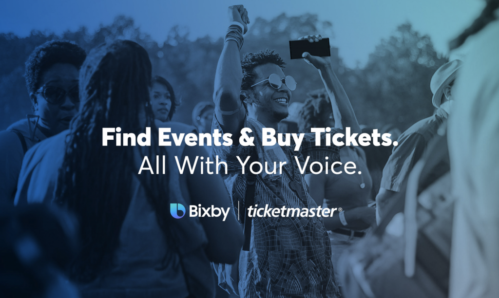discover events and buy tickets with ticketmaster and bixby