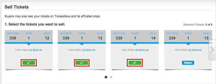 Select Tickets to Sell