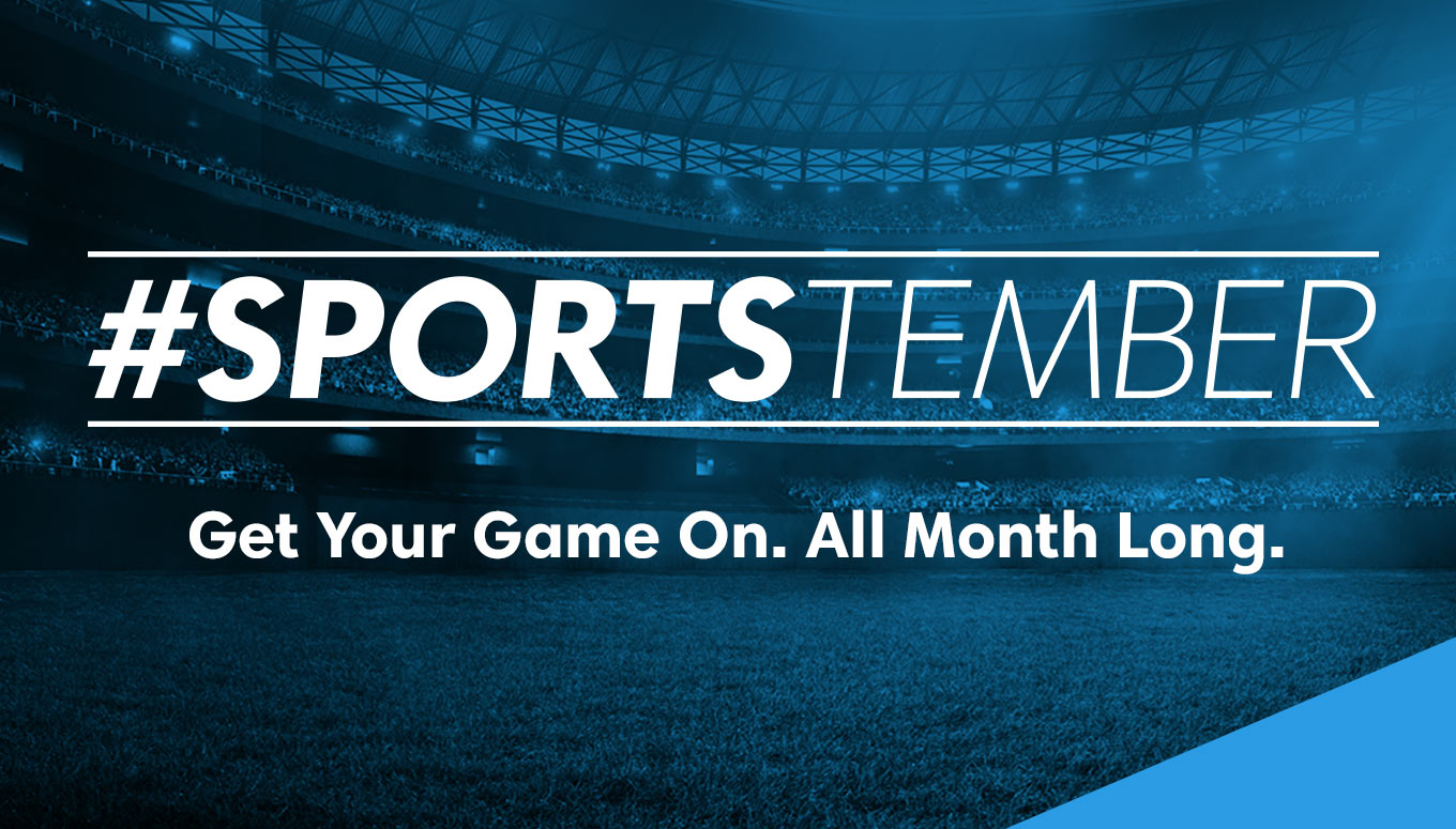 Get Your Game On All Month Long This #Sportstember