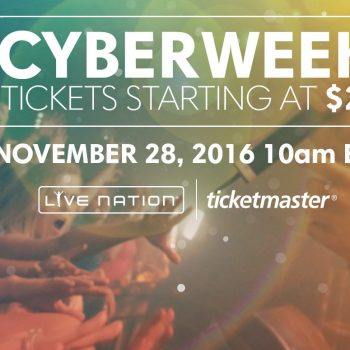 Hot! Ticketmaster & Live Nation Cyber Week Specials
