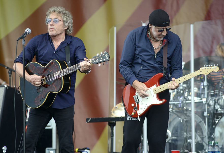 Roger Daltrey (L) and Pete Townshend of The Who perform during the 2015 New Orleans Jazz & Heritage Festival at Fair Grounds Race Course on April 25, 2015 in New Orleans, Louisiana. (Photo by: Tim Mosenfelder/Getty)