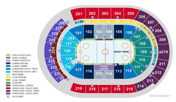 columbus blue jackets seating chart - nationwide arena