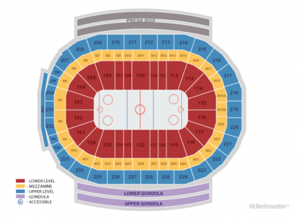 detroit red wings seating chart - little caesars arena