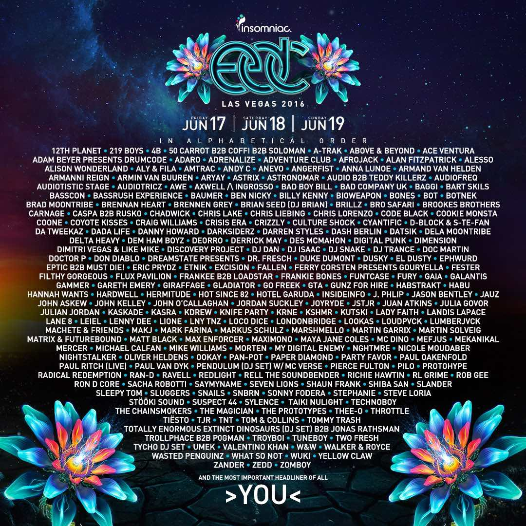 EDC Las Vegas 2016 Lineup Announcement