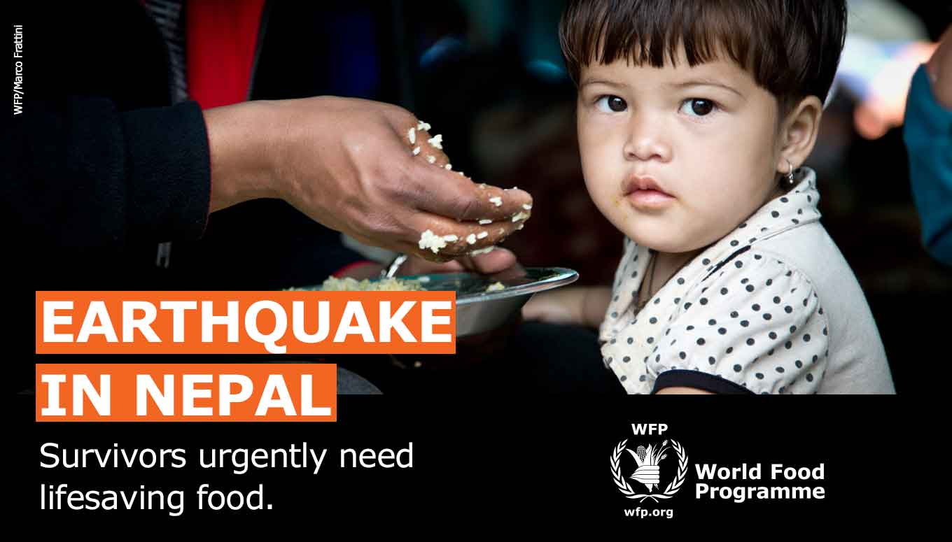 Join World Food Programme + Ticketmaster to Support Nepal Earthquake Disaster Relief