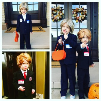A.J. Hawk's children's Halloween costumes in 2015