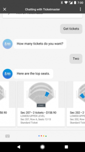 Google Assistant Seat Selection
